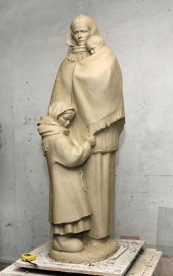 Фото Укринформ: макет памятника