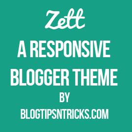 Zett a Responsive Blogger Theme