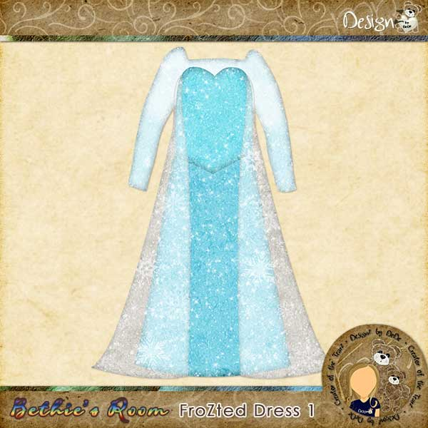 Elsa Dress for Bethie's Room DollZ