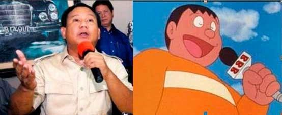 Prabowo Mirip Giant Nobita