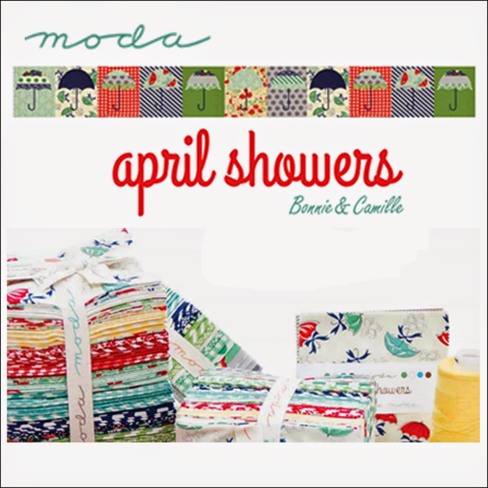 Moda APRIL SHOWERS Quilt Fabric by Bonnie and Camille