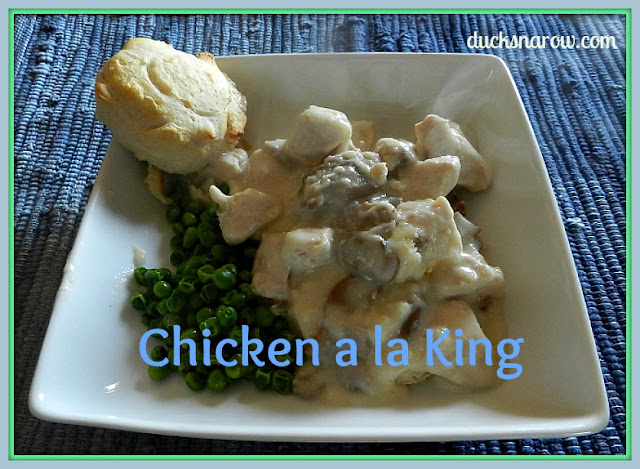 Great comfort food and easy to make: chicken a la king recipe #chickenrecipes #easydinners #comfortfood