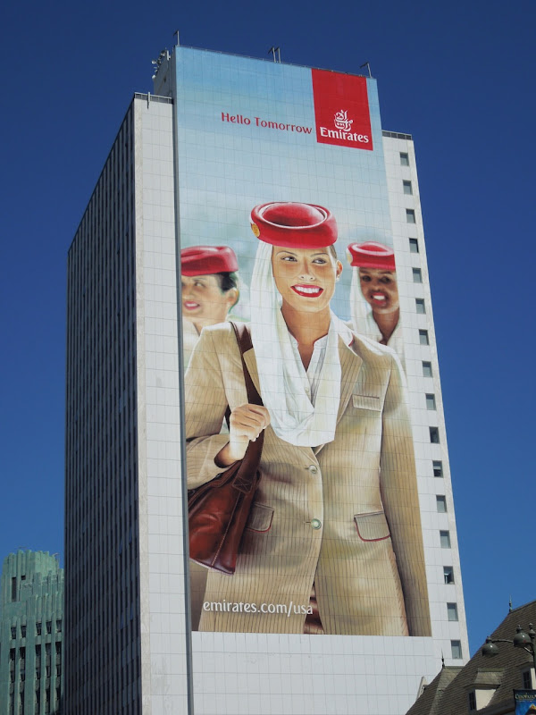 Giant Emirates Airlines Hello Tomorrow billboard