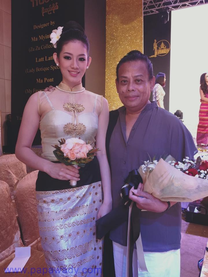 Exclusive : Khin Wai Phyo Han Behind The Scenes Pictures at Nan Myo Thu Silk Shop Fashion Show