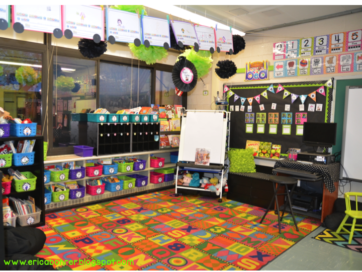 Classroom Decor Black ~ Black white polka dot plus brights classroom reveal