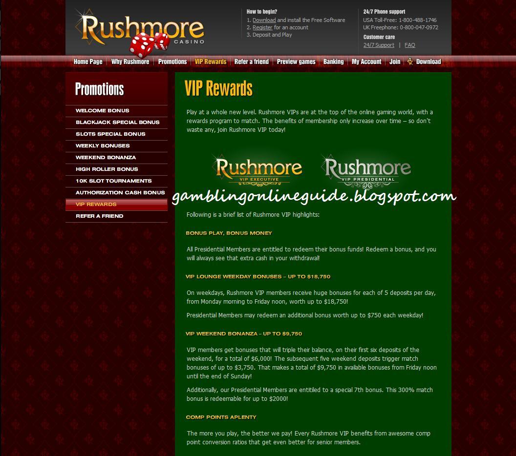 Rushmore casino online slots
