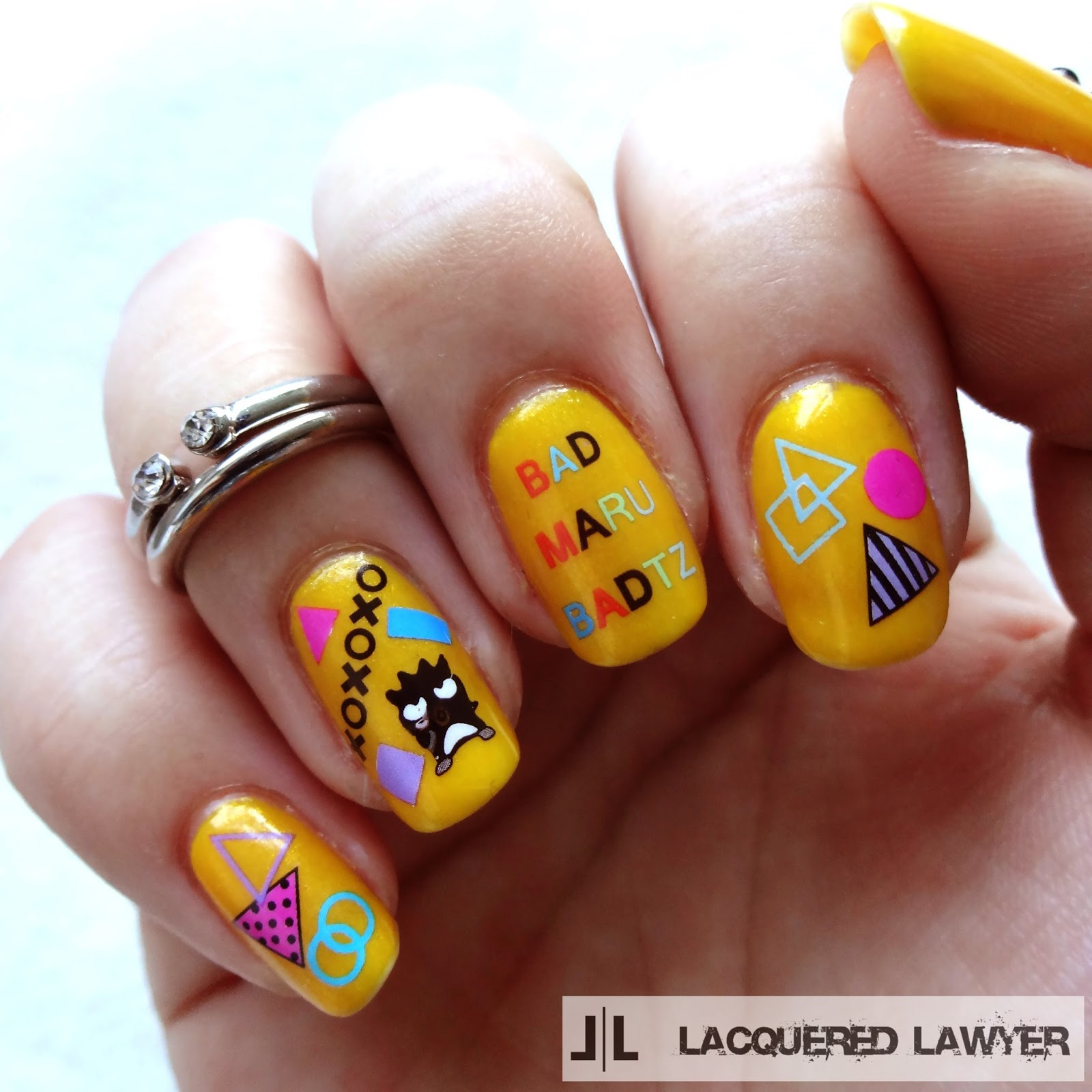 Bad Badtz Maru Nail Art