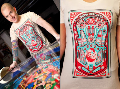 Online Exclusive Limited Edition Johnny Cupcakes Pinball T-Shirt
