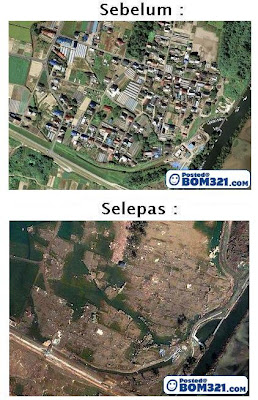 Gambar Satelit Sebelum Dan Selepas Bencana Tsunami Di Jepun