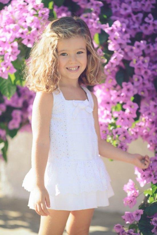 vestido perforado blanco
