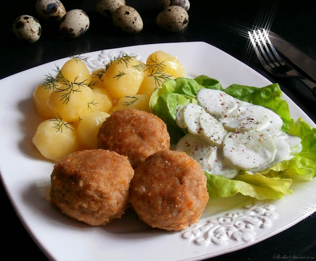 Kotlety Mielone z Jajeczkami Przepiórczymi - Przepis - Słodka Strona