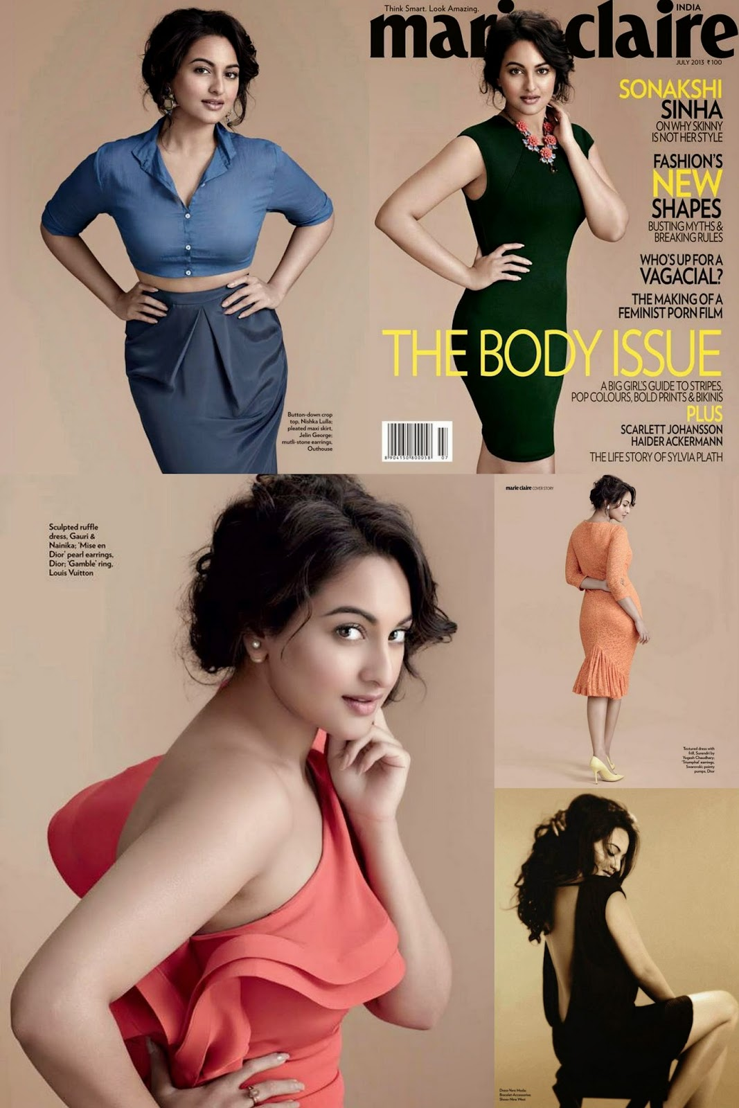 Sonakshi Sinha Hot Photoshoot for Marie Claire Magazine (1707 x 2560)