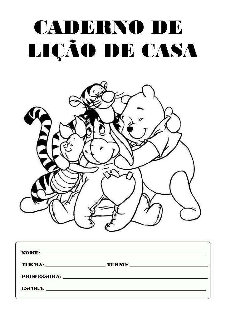 Extremamente ESPAÇO EDUCAR: Capas ou frentes de caderno do ursinho Puf ursinho  BB03
