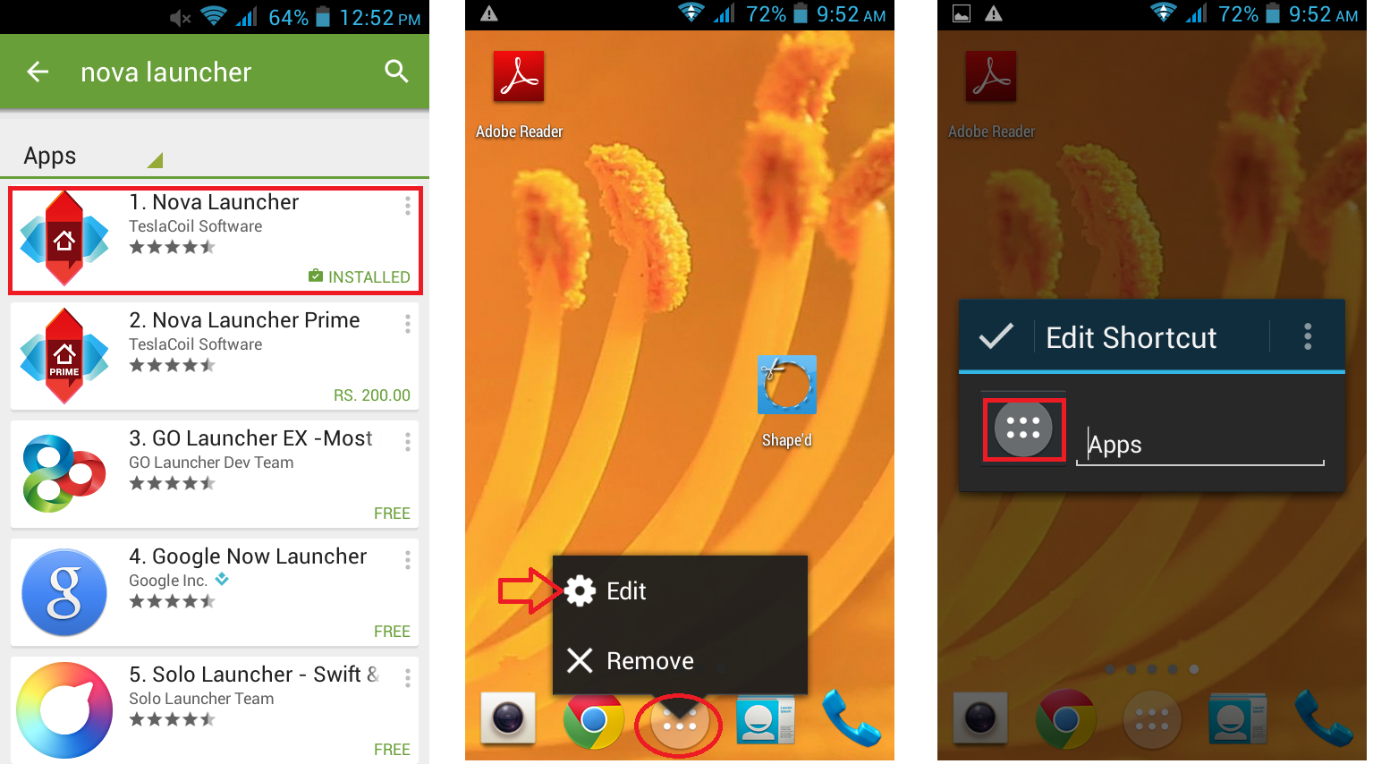 How to Insert or Add Picture to Android Icons