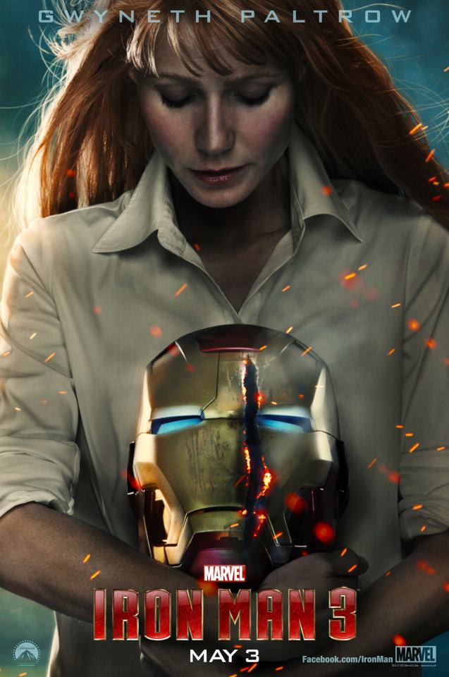 Pepper Potts / Gwyneth Paltrow poster Iron Man 3