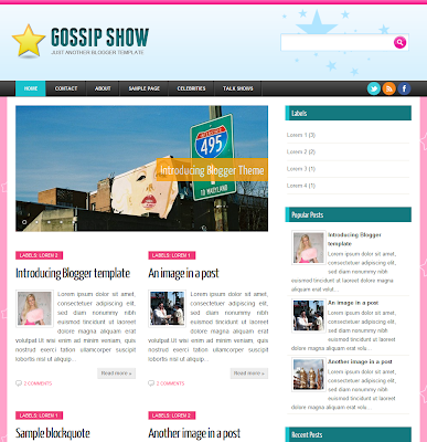 Gossip Show Blogger Template