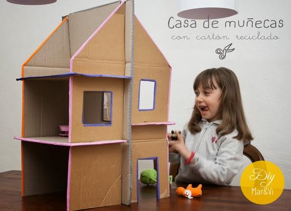 Mar vi blog casa de mu ecas de cart n reciclado - Casa de munecas you and me ...