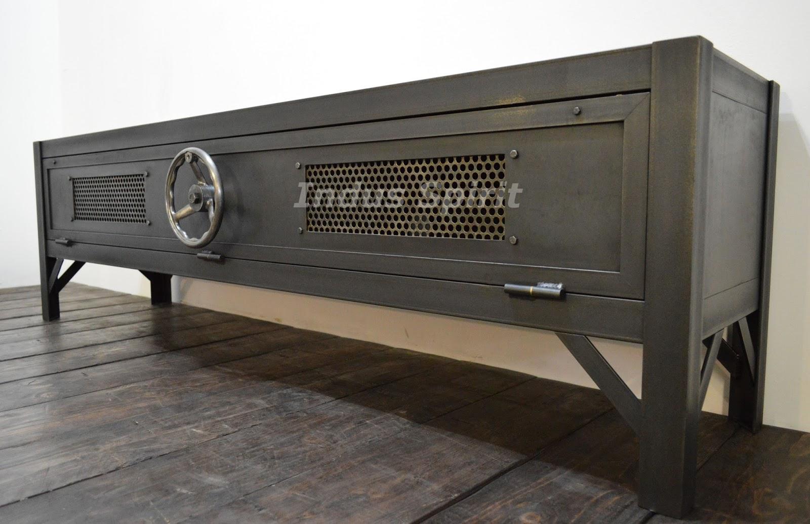 meuble tv loft. Black Bedroom Furniture Sets. Home Design Ideas