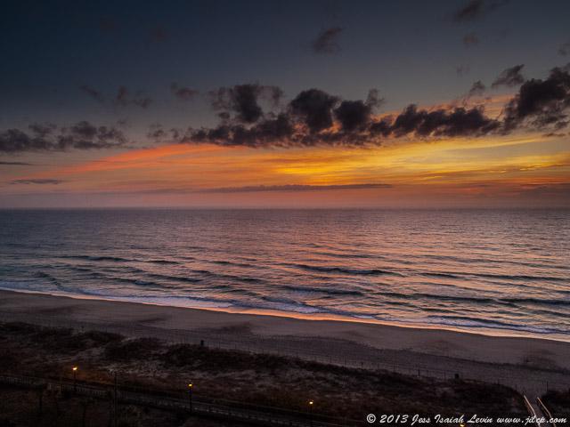 seashore sunrise, horizontal oblique