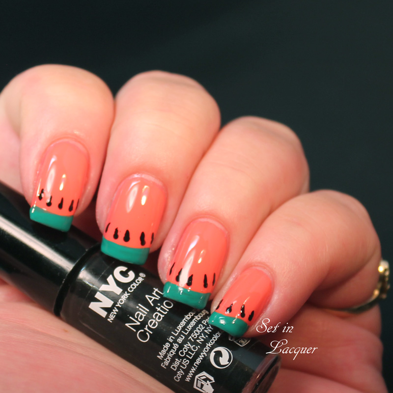 NYC Watermelon Nail Art