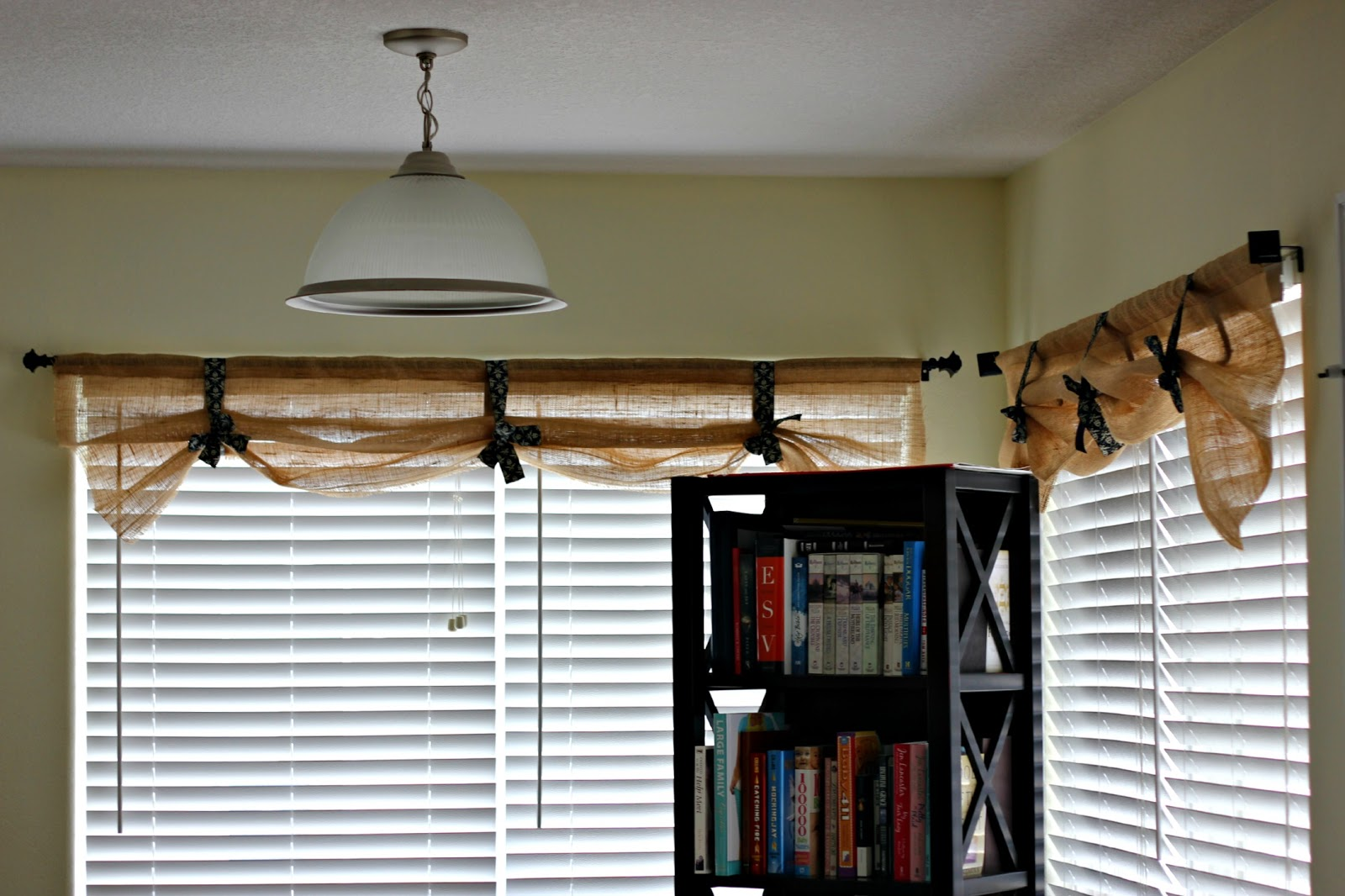 How to sew burlap curtains