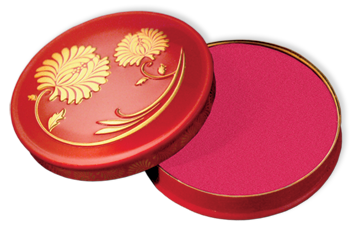 Besame make up, Besame cream blush, 1920s style make up, Coming Up Rosy Cheeked Rouge in Crimson, Cream Rouge, Vintage Make Up, Gel Blush