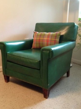 $75   Green Leather Club Chair