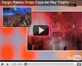 vidio Piala Real Madrid Copa Del rey Jatuh dan Hancur tertabrak bis