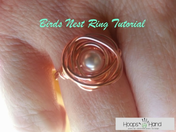 DIY Bird's Nest Ring, shared by Hoops by Hand