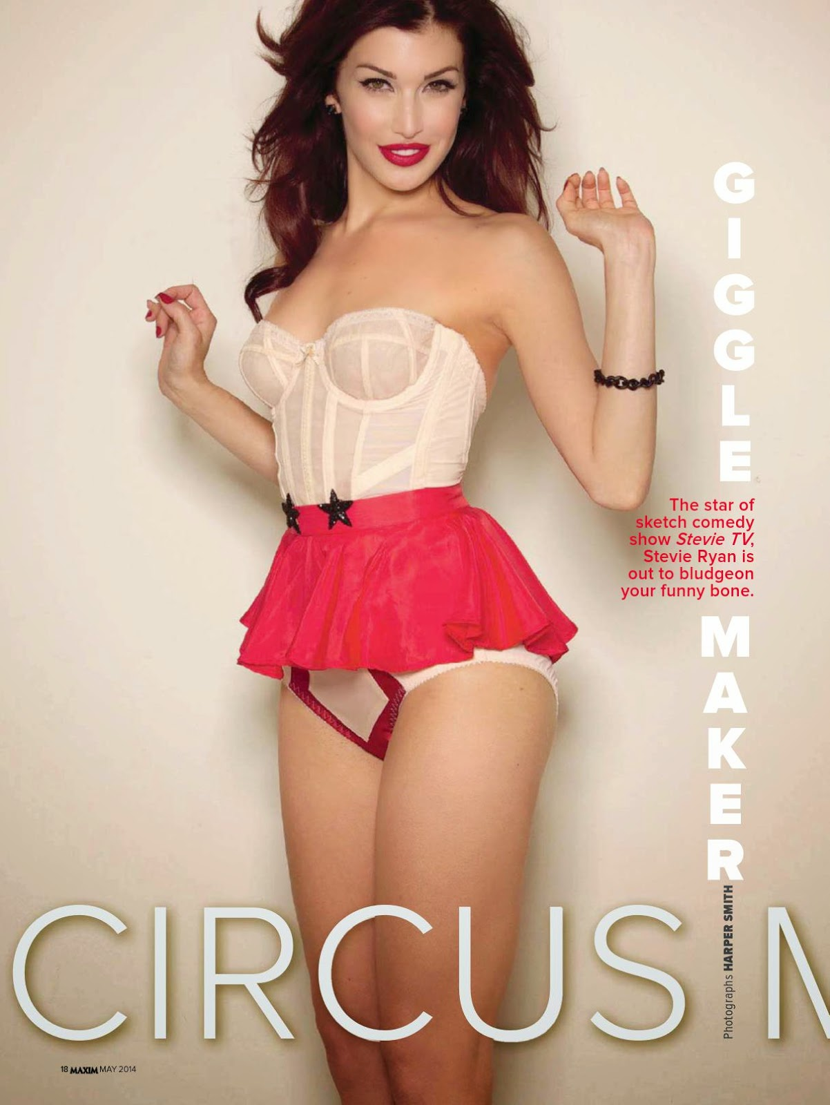 "Stevie Ryan For ""Circus Maximus"" Maxim Magazine, India, May 2014"