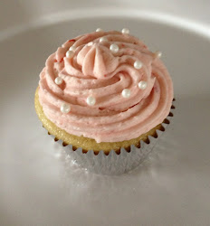Vanilla w/ Strawberry Buttercream Icing