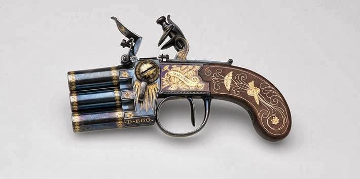 Flintlock pistol Napoleon Bonaparte.