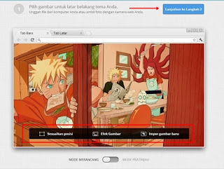 membuat tema google chrome
