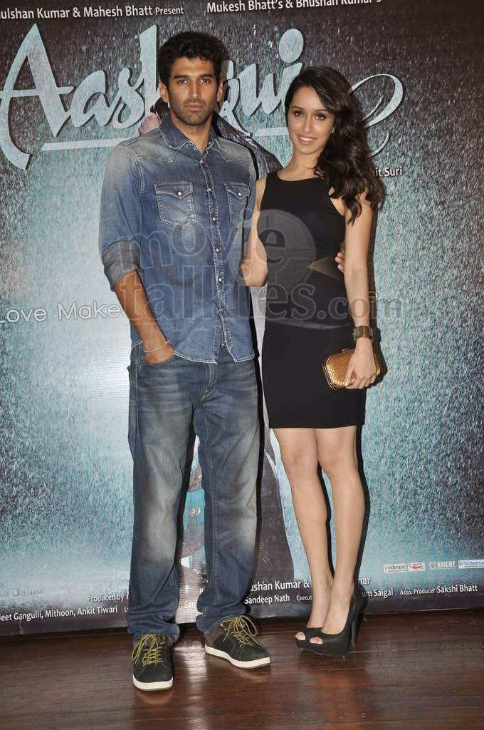 Aditya Roy Kapur And Shraddha Kapoor At 'Aashiqui 2' Success Bash
