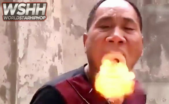 Man Breathes Fire And Smoke