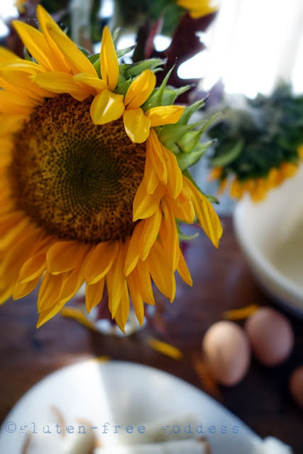 Sunflower, kitchen table, November by Karina Allrich ©2013
