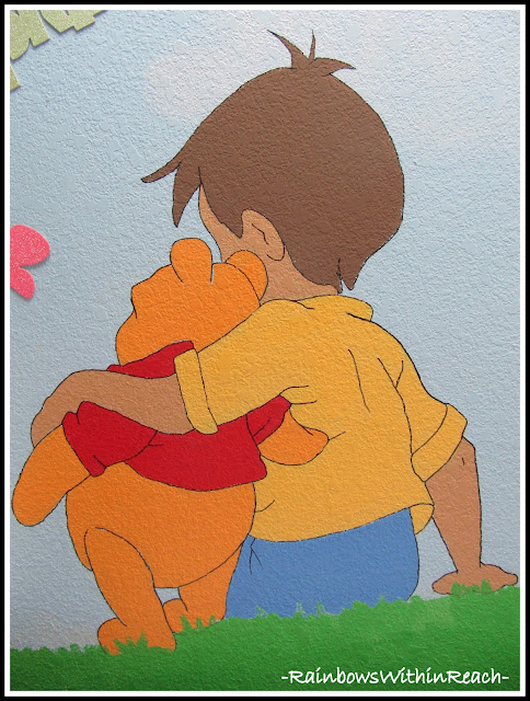photo of: Painted Mural Winnie the Pooh Theme