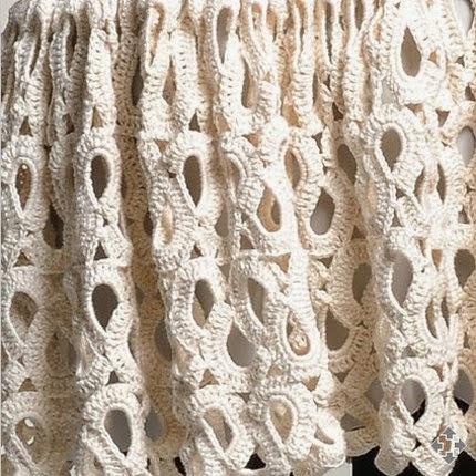 Белая летняя юбка крючком