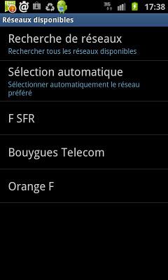 Réseau Free Mobile absent