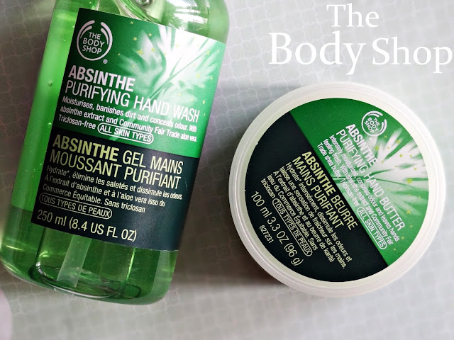 The Body Shop Absinthe Purifying Hand Butter and Hand Wash TBS Absinthe Range Reviews