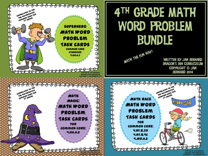 4th Grade Math Word Pro lem Bundle