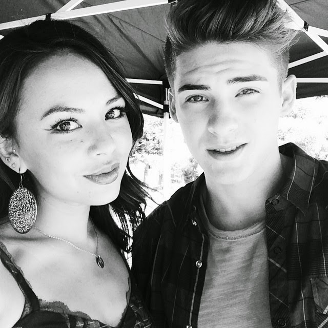 Janel Parrish and Cody Christian