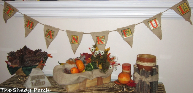 Thankful Burlap Bunting for Thanksgiving