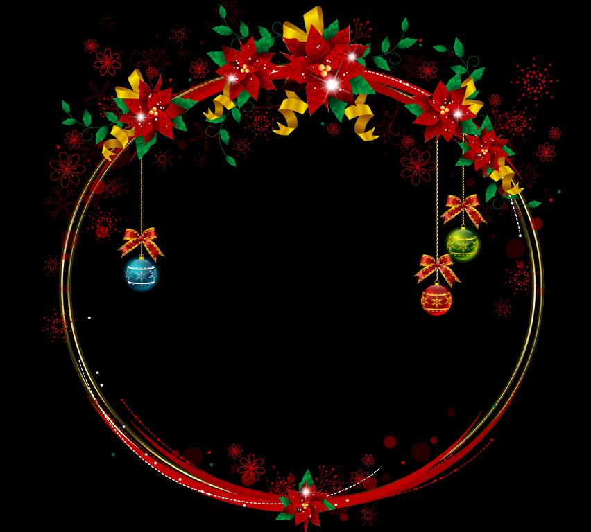 Bonitos marcos de navidad redondos marcos gratis para - Marcos navidad fotos ...