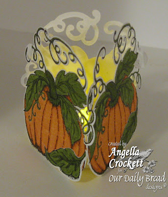 ODBD Pumpkin Single, ODBD Custom Pumpkin Die, Project Designed by Angie Crockett