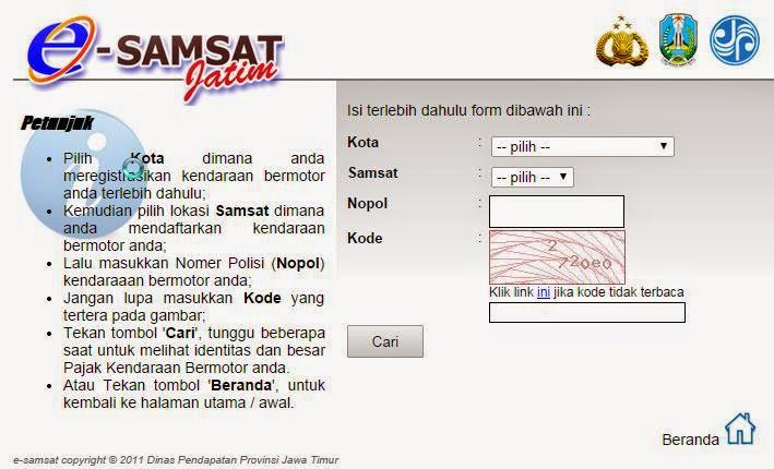 Halaman e-Samsat