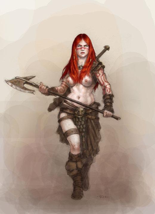 Barbarian girl por Nordheimer