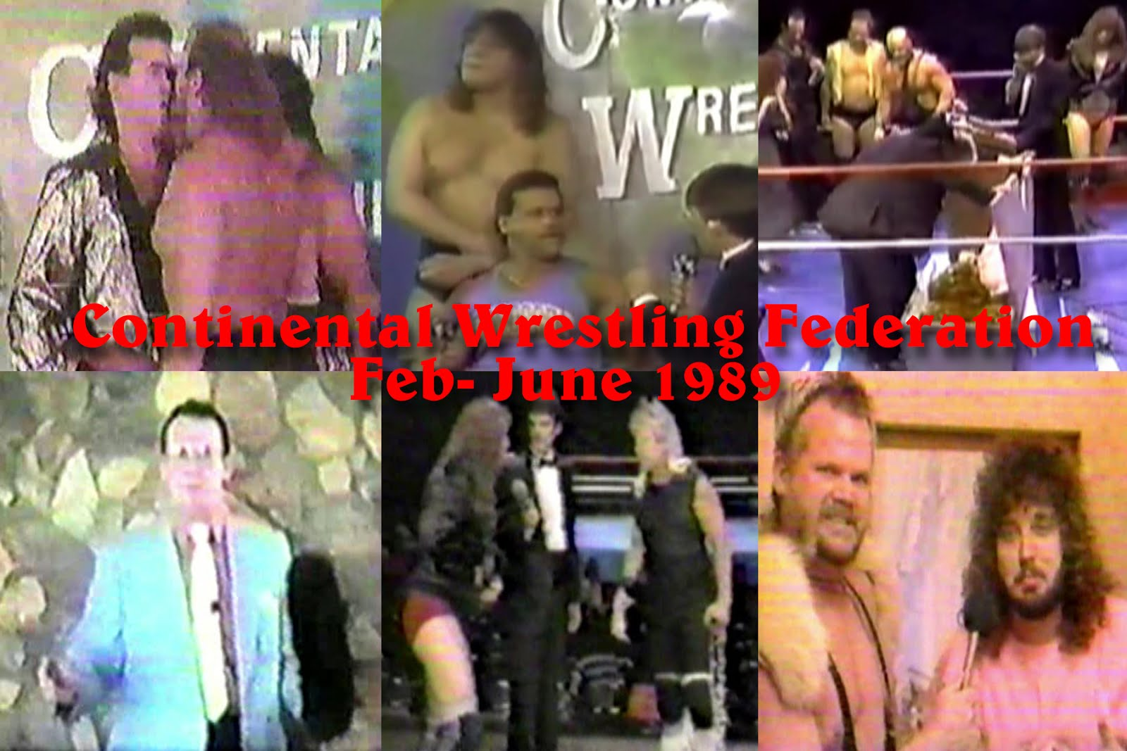 NEW Continental Wrestling Feb-June 1989