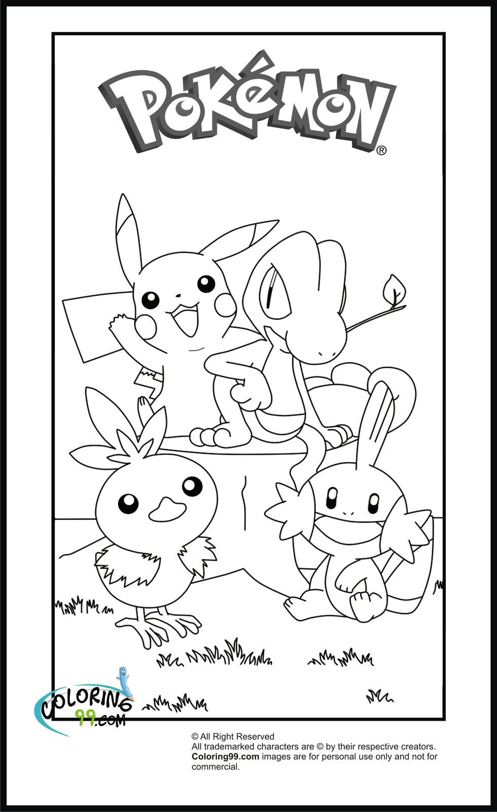 Pikachu Coloring Pages | Team colors