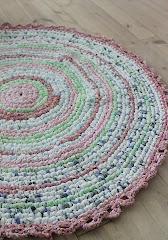 DIY- Hekle teppe av stoffremser